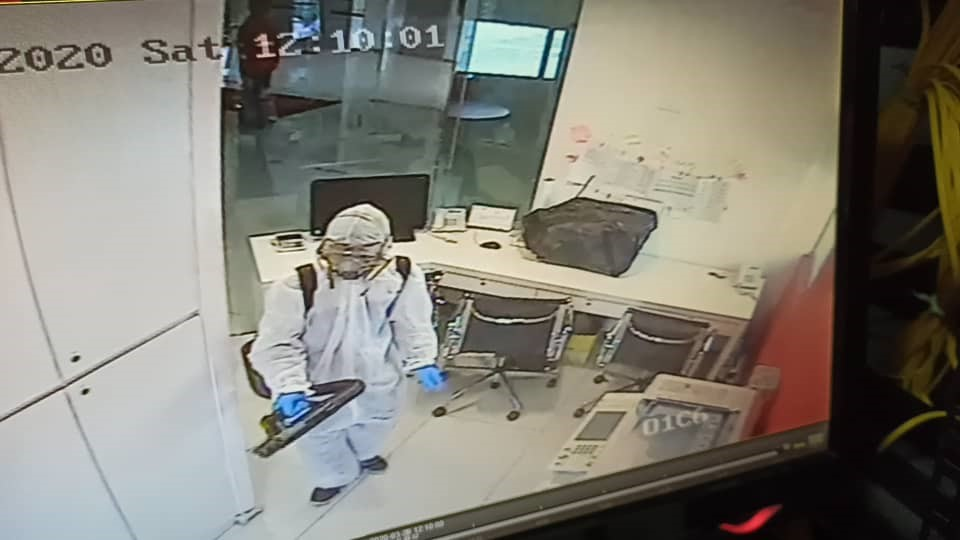 Images are taken from our surveillance cameras as no staff were allowed in the office during the sanitisation